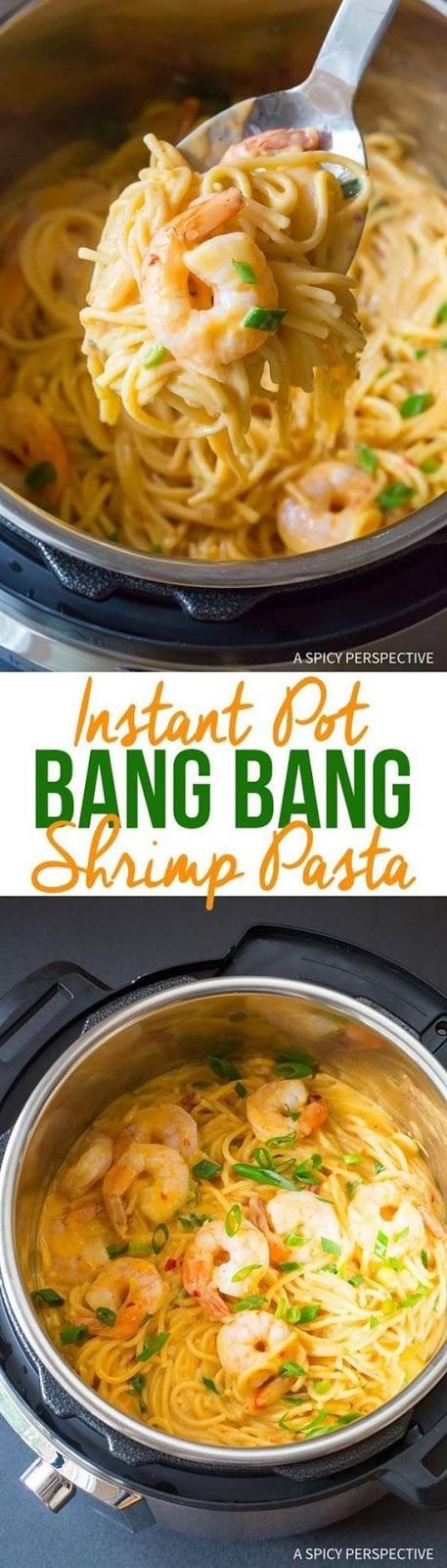 Easy Instant Pot Bang Bang Shrimp Pasta #Easy #simplirecipe #Instantpot #Bangbang #Shrimp #Pasta #vegan #Vegetables #Vegetablessoup #Easydinner #Healthydinner