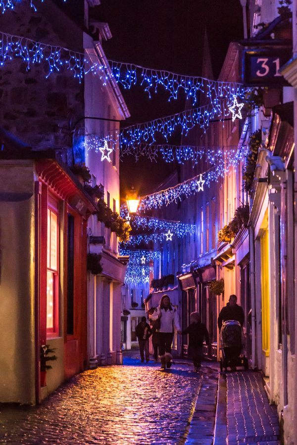 the island of guernsey lights up at christmas time making it the perfect destination for a quick winter getaway st peters port the capital of guernsey - How Does England Celebrate Christmas