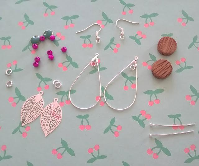 DIY, tutoriel, boucles d'oreilles, bijoux, l'atelier de la malie, perle des loisirs