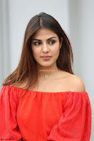 Rhea Chakraborty in Red Crop Top and Denim Shorts Spicy Pics ~  Exclusive 326.JPG