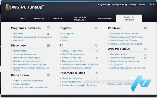 AVG PC TuneUp 2015 Español Versión 15.0.1