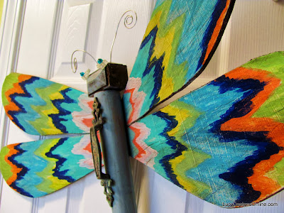 hand painted ikat on dragonfly wings