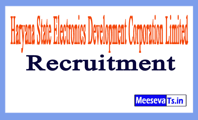 Haryana State Electronics Development Corporation Limited Hartron Recruitment