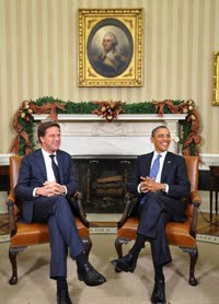 Rutte meets Obama at White House