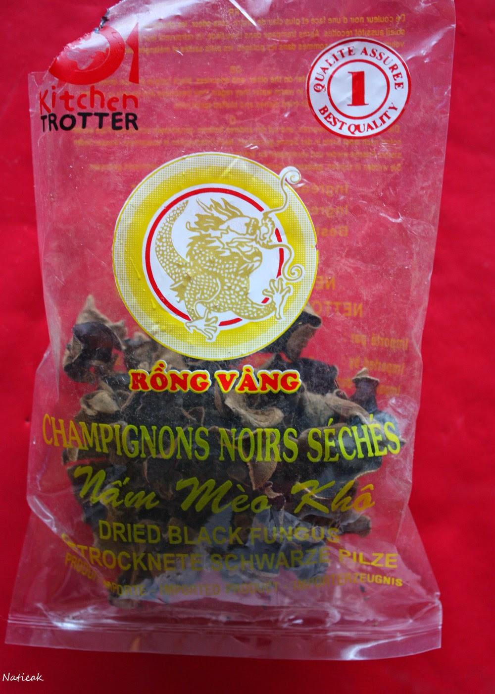 Champignons noirs séchés Rông vâng (Kitchen Trotter)