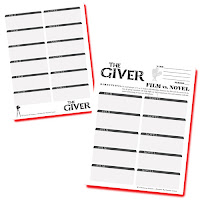 This 2-page organizer will help your students compare the novel to the movie (theatrical release, August 2014).  How is the movie The Giver different?  After reading The Giver, students will view the film and analyze the differences. This opens up a bunch of fun and critical-thinking conversation about why the movie-makers would change parts of the novel for the film. They are, after all, two different works of art.