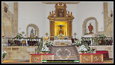 <b>Trujillo</b>. Iglesia de <b>San</b> Martín <b>de Tours</b>. Altar Mayor.