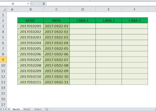 3 Cara Menambahkan Karakter di Tengah Kalimat/Kata di Excel