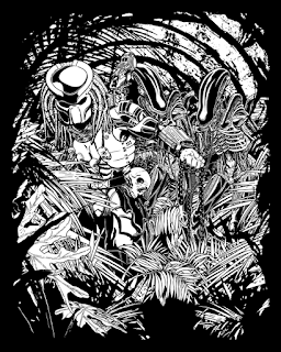 Welcome to the jungle. Alien vs Predator fanart. Only ink.