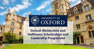Oxford-Weidenfeld and Hoffmann Scholarships