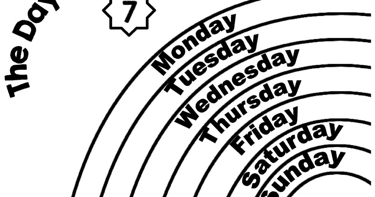 Enjoy Teaching English Days Of The Week Coloring Worksheets