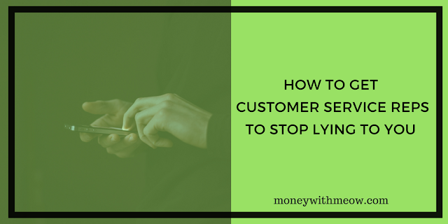 how to get customer service reps to stop lying