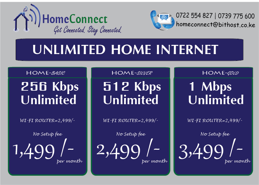 KISUMU DALA EVENTS: UNLIMITED HOME INTERNET CONNECTION OFFER IN KISUMU
