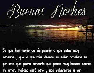mensajes buenas noches mi amor