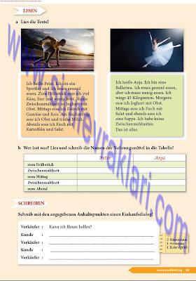 9. Sınıf Almanca A1.1 Ders Kitabı Cevapları Sayfa 59