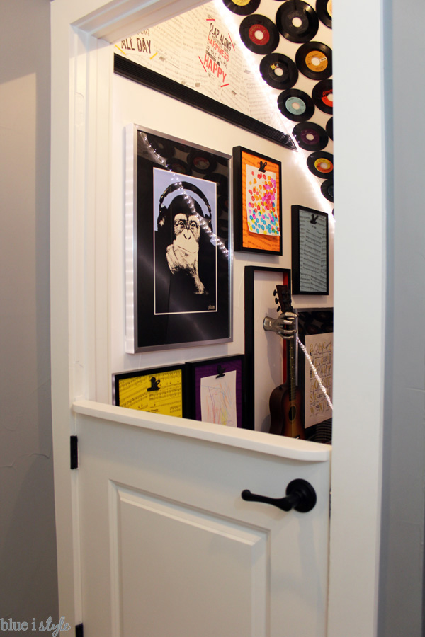 Rock & Roll themed under stair playroom - complete source list
