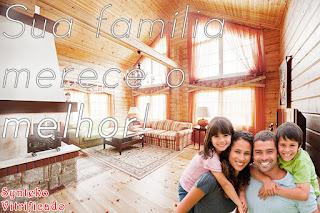 Casa de madeira no DF