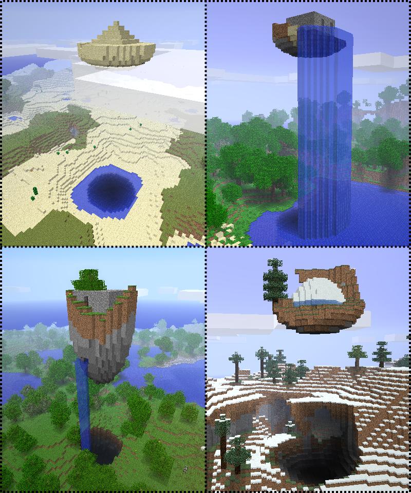 Nerd Kraft: Floating Ruins Mod Minecraft 1.7.2