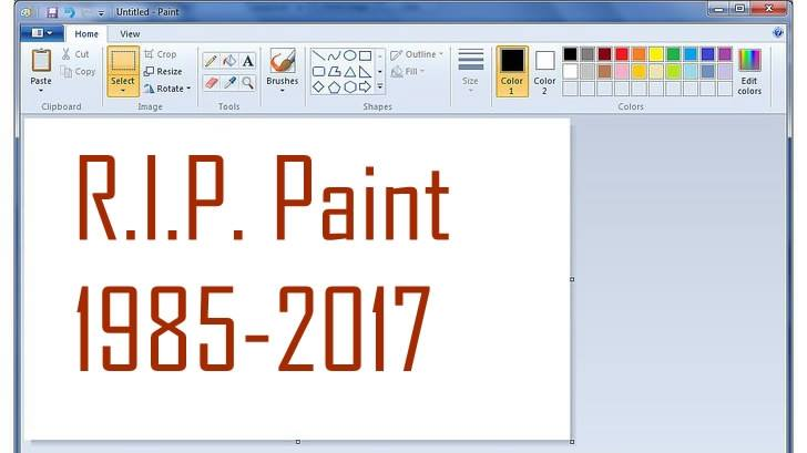 Microsoft Paint brushed aside