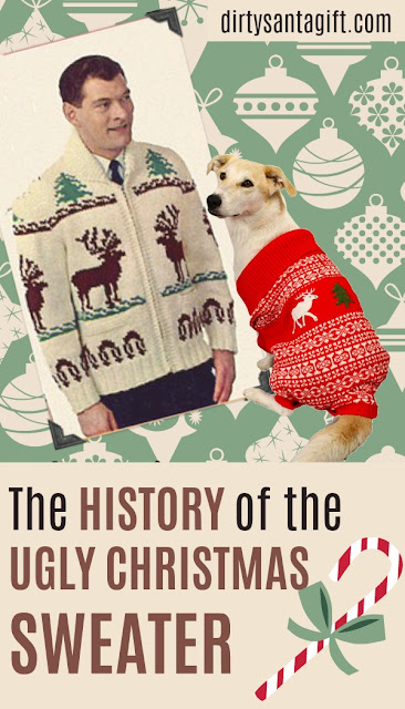 History of the ugly christmas sweater graphic