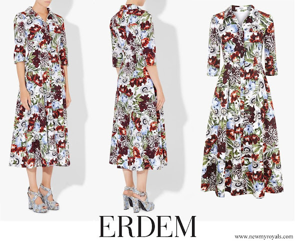 Countess Sophie of Wessex wore Erdem Kasia floral-printed silk dress