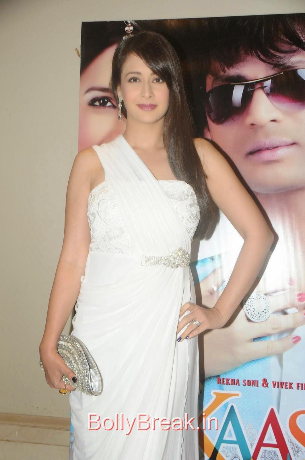 Hindi Actress Preeti Jhangiani, Preeti Jhangiani Hot Pics in white dress from Kaash Tum Hote Trailer Launch