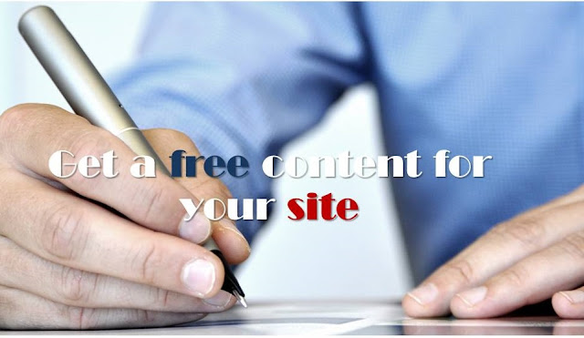 Getting free content for your site