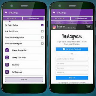 BBM Mod Purple Theme Extra Fitur Apk V3.1.0.13