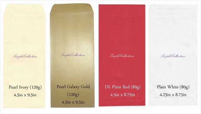 Envelope Choices, pearl ivory envelope, pearl galaxy gold envelope, DL Plain Red enveople, plain white envelope, plain envelope 80g, red, pink, beige, ivory, purple, lilac, light blue, white, long envelope, wallet, 4.5 x 8.75 inch, kuala lumpur, selangor, malaysia, JB, johor bahru, Singapore, online purchase, buy, sale, sell