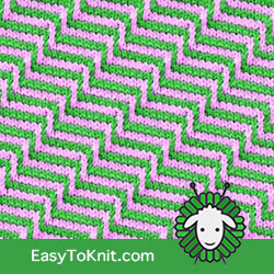 Slip Stitch Knitting 19: Staircase | Easy to knit #knittingstitches #knittingpattern
