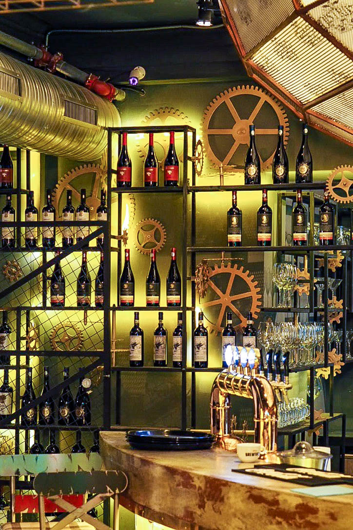 Steam punk themed wine bar