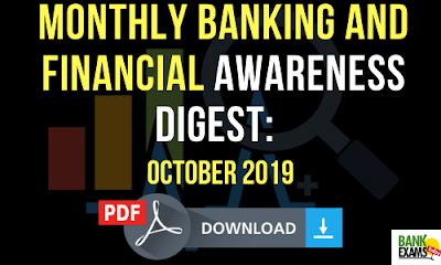 Monthly Banking and Financial Awareness Digest: October 2019