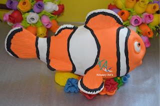 Festa Nemo e Dory - Centros de mesa bolos e lembrancinhas