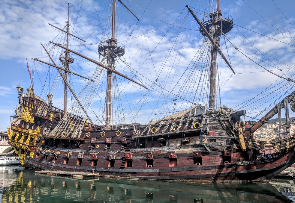 How to spend a weekend in Genoa with kids - Neptune pirate ship at the old port