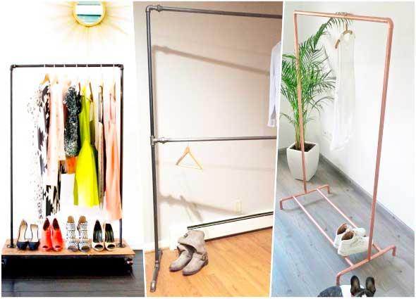 pipe clothing, perchero pvc, diys, bricolaje, manualidades