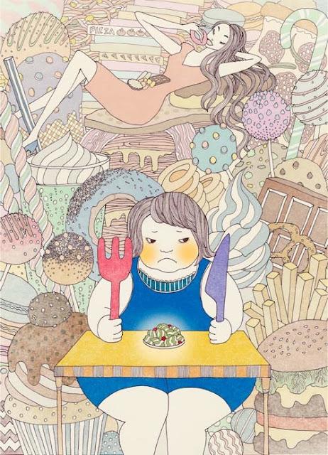 Ilustraciones por Yoko Furusho, arte, imagenes chidas, graciosas, cool drawings, kawaii, art inspiration.