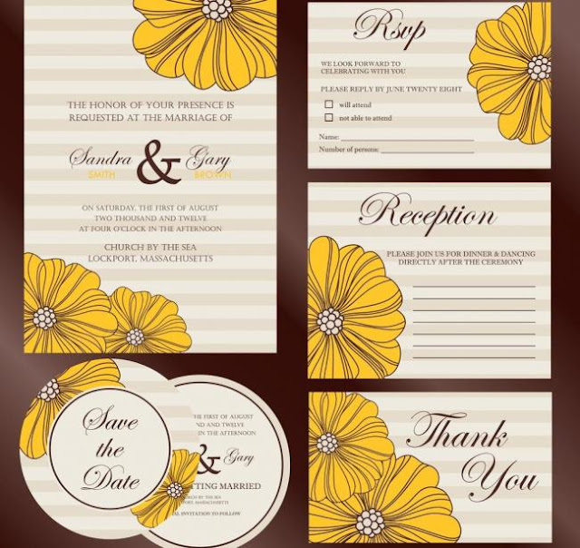 Wedding invitation background template