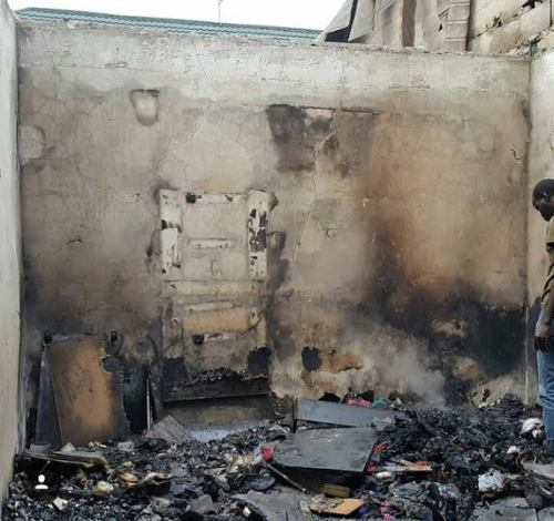 Kate Henshaw shares an unseen photo from the 2015 Fire incident at her Lekki Phase 1 Home