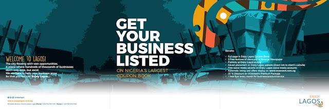Get Your Business Listed On Nigeria's Largest Coupon Book