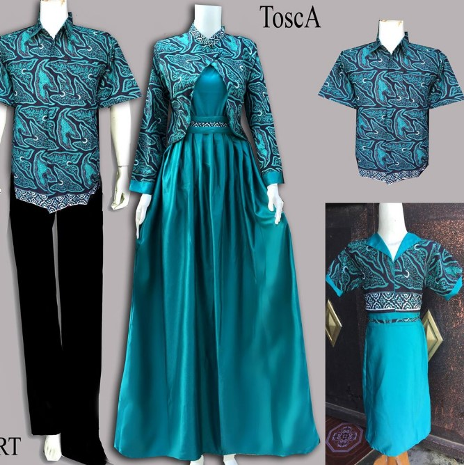 Model Baju Muslim Gamis Batik: 10 Model Baju Batik Couple Gamis Elegan Terbaru 2018