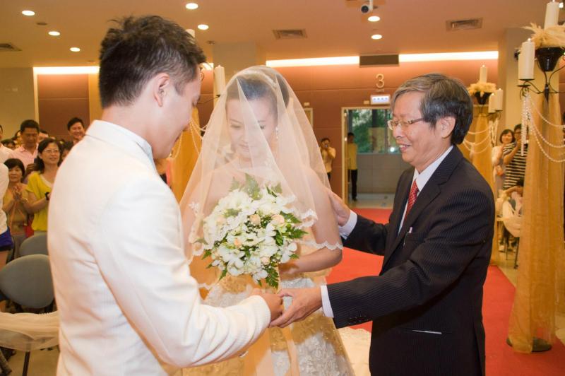 推薦 婚禮攝影記錄 台北真理堂證婚儀式