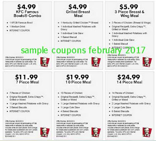free Kfc coupons for february 2017