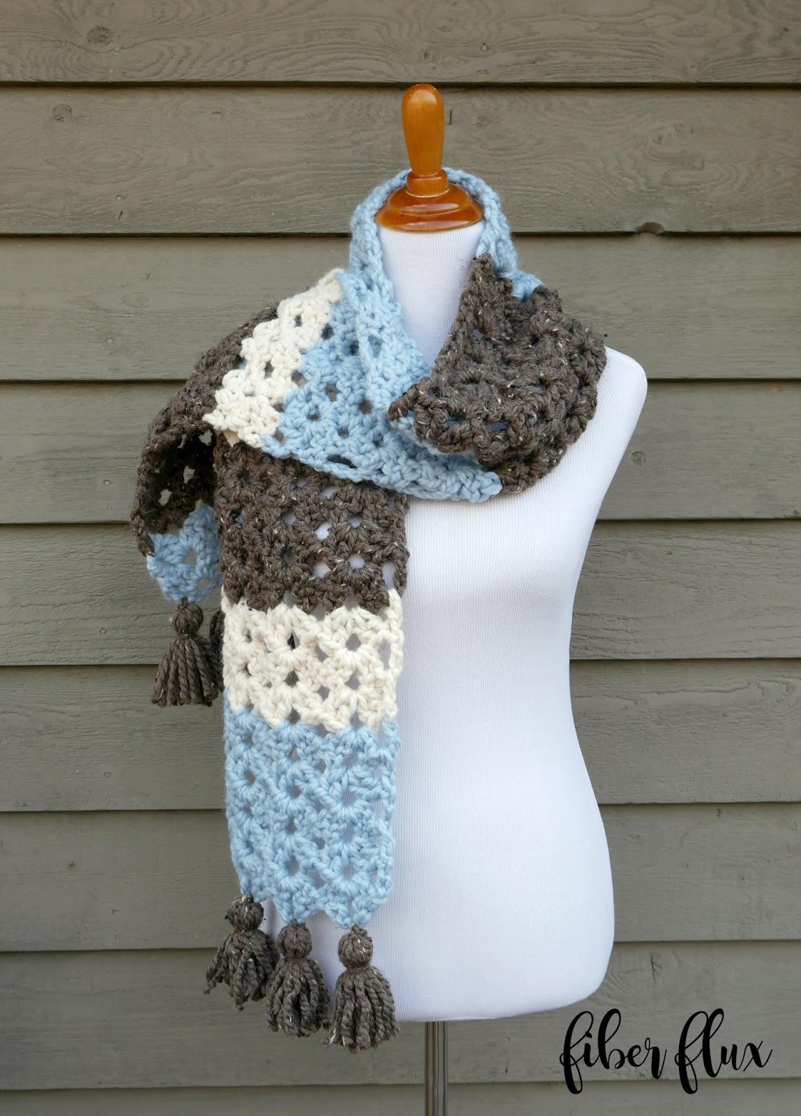Fiber flux free crochet patternwinter woods scarf free crochet patternwinter woods scarf bankloansurffo Choice Image