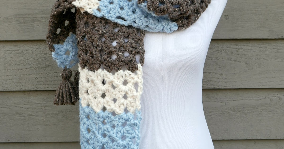Fiber Flux Free Crochet Patternwinter Woods Scarf