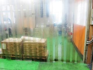 印刷現場で使用されている間仕切りの写真
