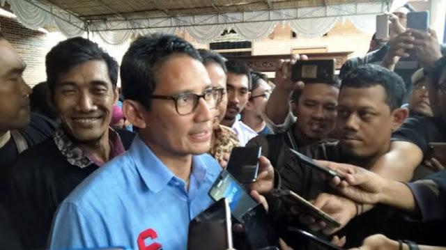 Sandiaga: Alhamdulillah Jokowi Sudah Akui Ada Kecurangan