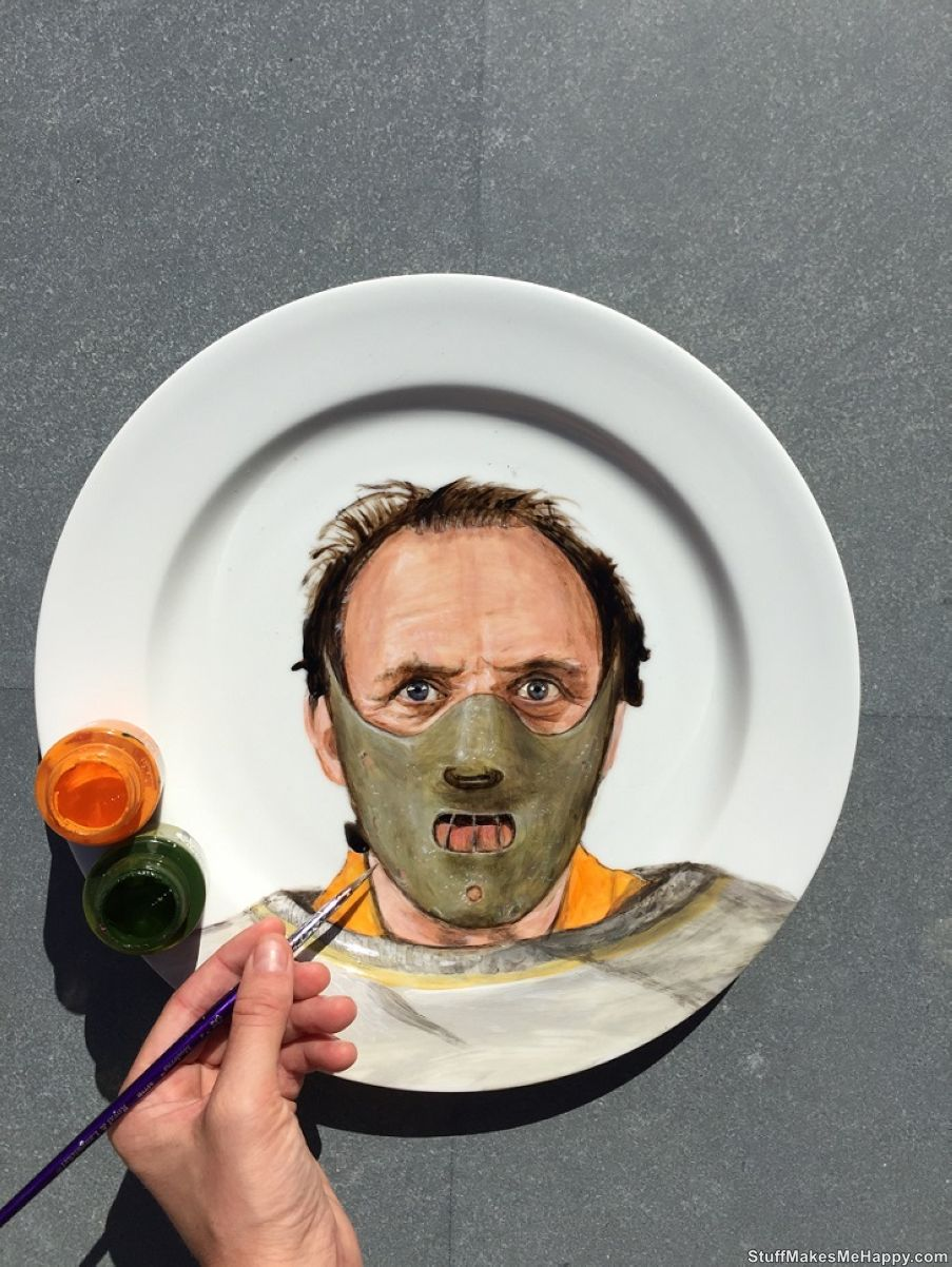 Anthony HopkinsWho's The Dish? The Artist Jacqueline Poirier Draws Celebrities on Plates