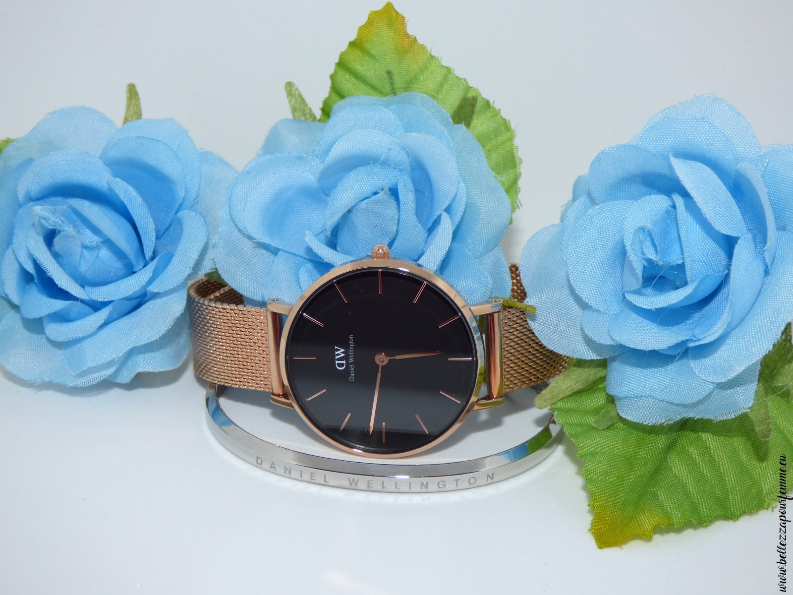Daniel Wellington Classic Petite Black Sheffield rose gold