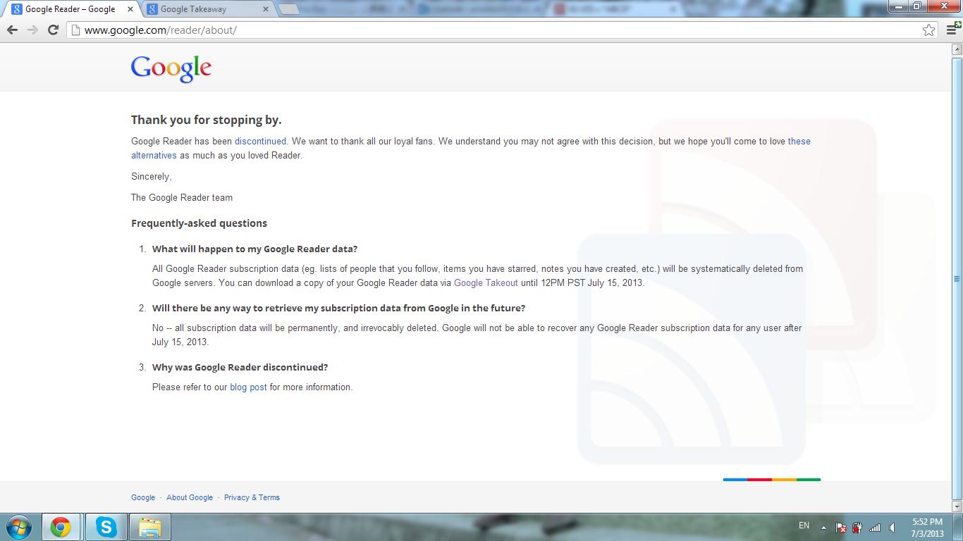 Min Diary: 谁能取代Google Reader?