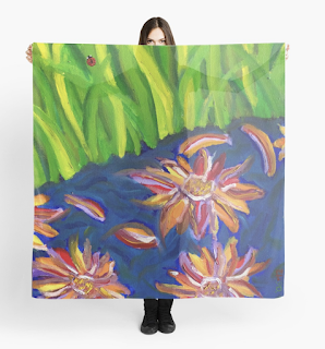 Flowers Float by Ladybug Stream - Melasdesign on RedBubble